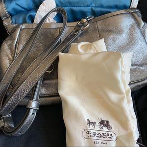 NWOT COACH Silver Handbag